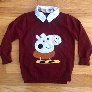 NWT Peppa Pig sweater with collar